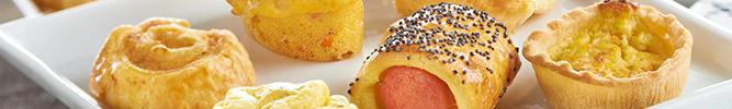 Canapés, petits fours et pains surprise
