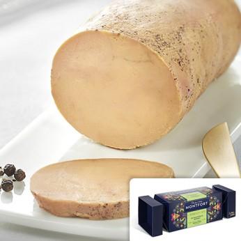 Foie gras de canard entier cuit au torchon Création n° 2 Cachaça et poivre du Brésil.