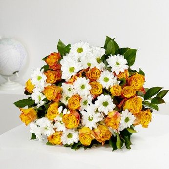 Bouquet Aube orange