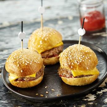 6 Minis cheese burgers