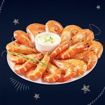 Assiette de crevettes