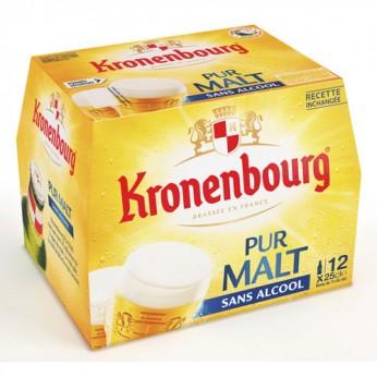 12 Bières blondes sans alcool Kronenbourg