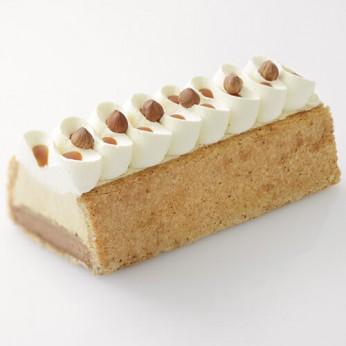 Bûche caramel noisettes - 2 parts