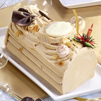 Bûche crème au beurre praliné - 6 parts
