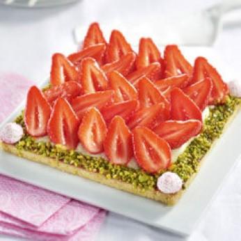 Carré sablé fraises - 6 parts