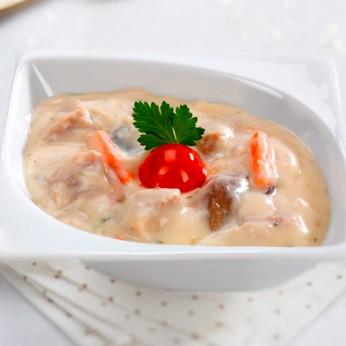 Cassolette ris de veau et pleurotes