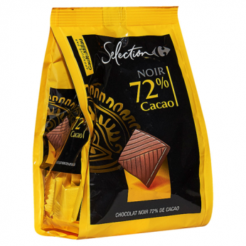 Chocolat noir 72% de cacao Carrefour Selection