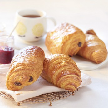 Assortiment de 2 croissants et 2 pains au chocolat bio
