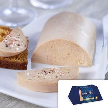 Bloc de foie gras de canard du Sud-Ouest avec 50% de morceaux GRANDE SÉLECTION