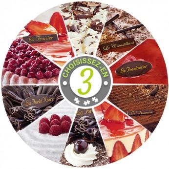 Assortiment de 3 gâteaux (18 parts)