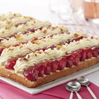 Génoise aux fraises - 15 parts
