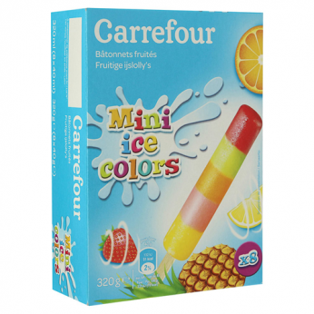 8 Glaces aux fruits Carrefour