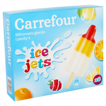 8 Glaces citron, orange, framboise Carrefour