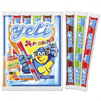 24 Glaces sucettes arômes panachés Yeti