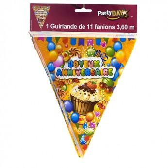 "Guirlande 11 fanions ""Cupcake"""