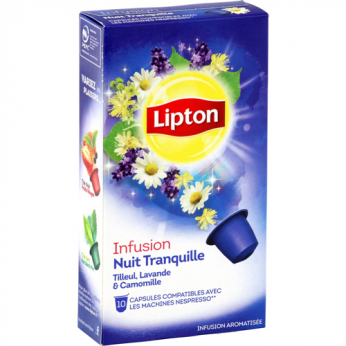 Infusion tilleul lavande camomille Lipton