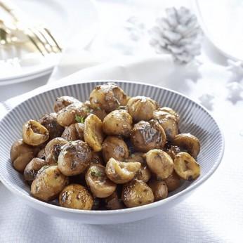 Marrons entiers cuisinés aux pommes et raisins