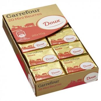 20 Minis beurres doux Carrefour
