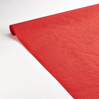 Nappe en papier rouge 7x1,18m
