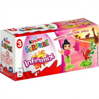 3 Oeufs chocolat Infinimix Kinder Surprise