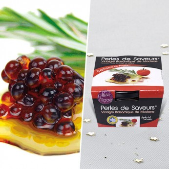 Perles de saveur vinaigre balsamique de modène