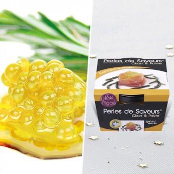 Perles de saveur citron et poivre