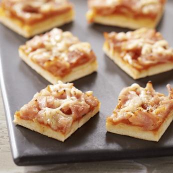 Pizza jambon fromage - 30 toasts