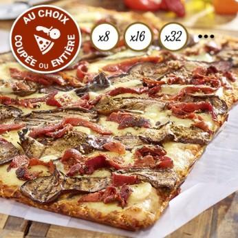 Pizza Légumes du soleil coupée en 64