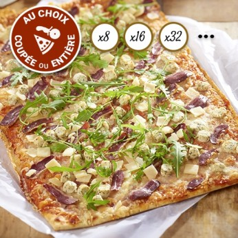 Pizza périgourdine coupée en 64