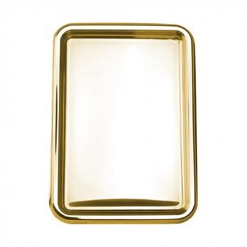 2 plateaux rectangles or 35x24cm