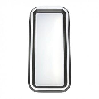 2 plateaux rectangles argent 35x16cm