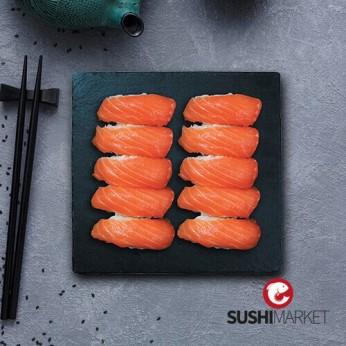 Plateau de 10 nigiri sushis saumon maxi