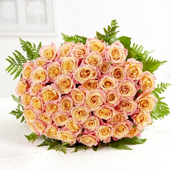Bouquet de 50 roses roses