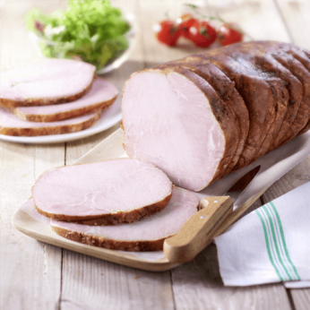 Plateau de rôti de porc cuit