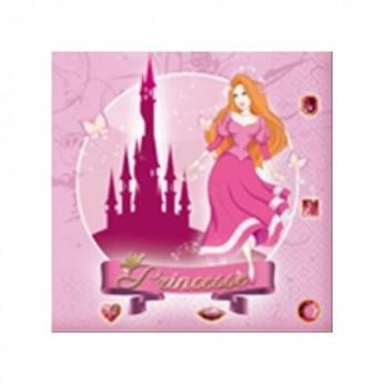 20 serviettes 33x33cm - Princesses