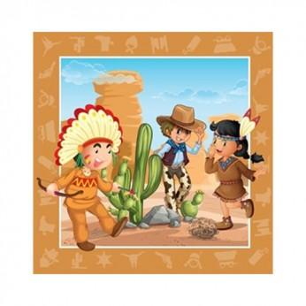 20 serviettes 33x33cm - Cowboys / indiens