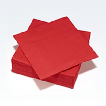 30 serviettes en papier rouges