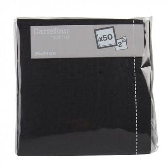 50 serviettes cocktail noires
