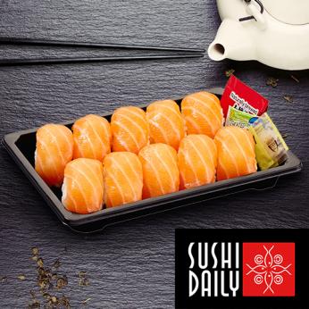 10 Sushis au saumon
