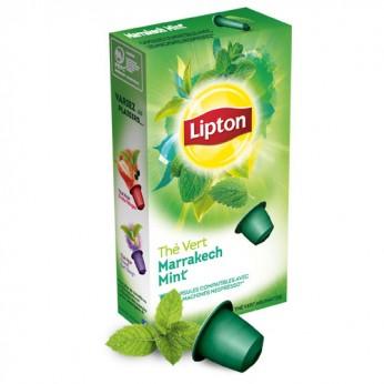 Thé vert capsules menthe Lipton