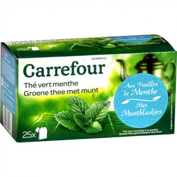 Thé vert menthe Carrefour