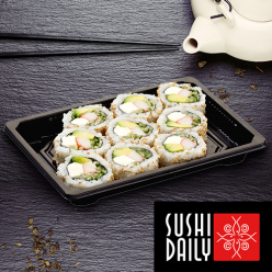 9 Cheese california rolls au saumon
