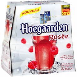 6 Bières rosées aromatisées framboise Hoegaarden