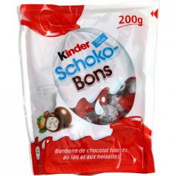 Bonbons chocolat lait/noisettes Kinder Schoko-Bons