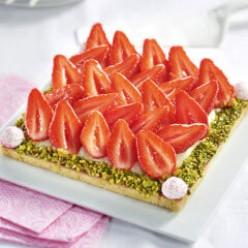 Carré sablé aux fraises - 6 parts