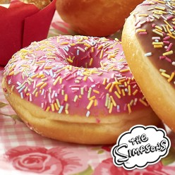 4 donuts Simpson fraise