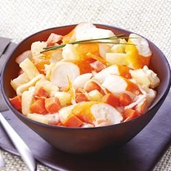 Duo ananas carottes et surimi