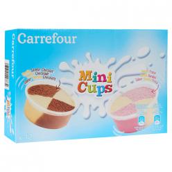 12 Glaces chocolat vanille fraise Carrefour