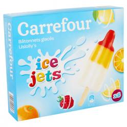 8 Glaces citron, orange, framboise Carrefour