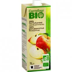 Jus de pomme bio 100% pur fruit pressé Carrefour Bio